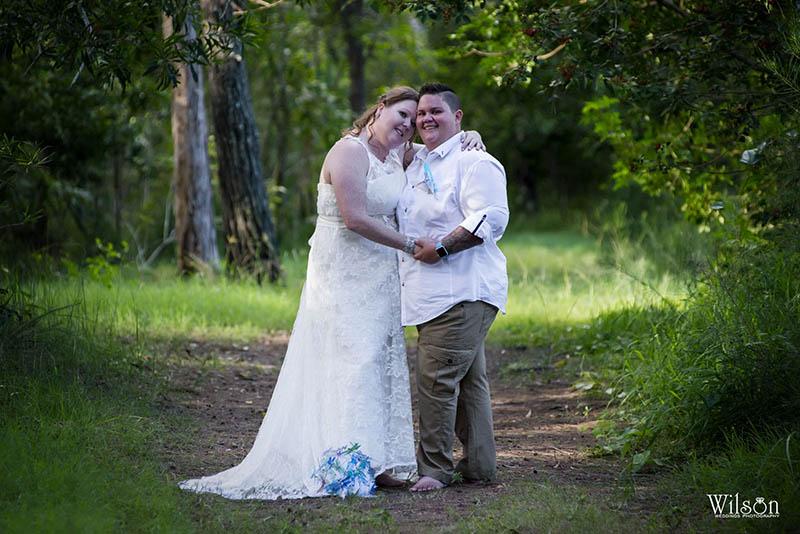 Jayne and Emma - Hervey Bay same sex wedding