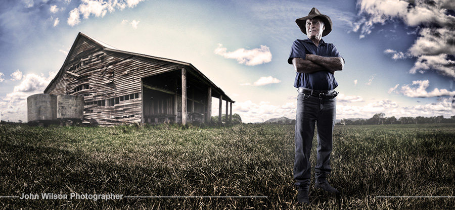 Farmer portrait at farm Hervey Bay