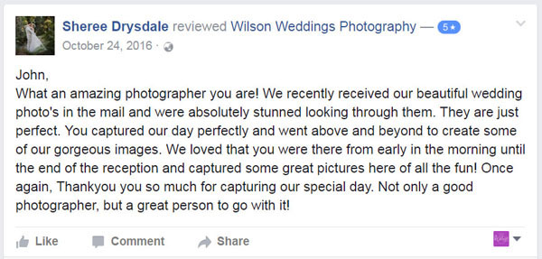 Facebook Review Hervey Bay Wedding photographer01