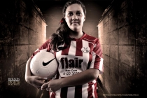 Football sisters | latest Maryborough Professional Portrait Photography | John Wilson Photographer